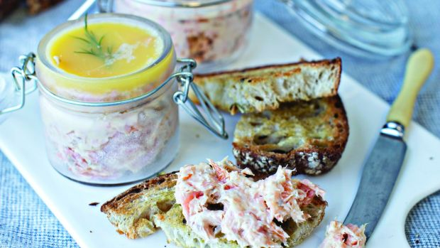 Darina Allens Rillettes Of Fresh Smoked Trout With Melba Toast