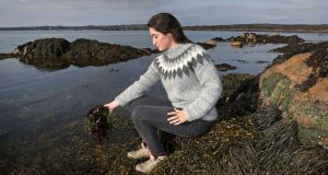 Sinead O'Brien of Mungo Murphy's Seaweed, at Rossaveal in Connemara. Photograph: Joe O'Shaughnessy