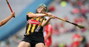 Kilkenny's Denise Gaule in action against Cork during the All-Ireland final at Croke Park in September. Photograph: Ryan Byrne/Inpho