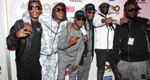 Section Boyz attend the 21st Mobo Awards at Glasgow's SSE Hydro.  Photograph:  Andrew Milligan/PA Wire