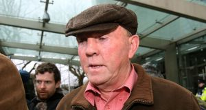 "Thomas ""Slab"" Murphy, who is appealing against his conviction  for tax evasion.  Senior counsel John Kearney said all the tax due was paid by members of the 67-year-old's family. Photograph: Brian Lawless/PA Wire"