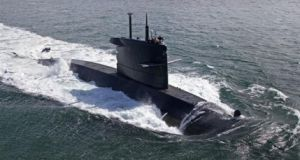 Shadowing  Russian warships? A Walrus-class submarine of the type deployed by the Dutch navy
