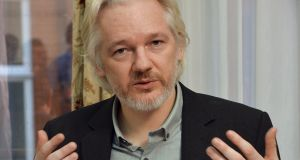 WikiLeaks founder Julian Assange. Photograph: John Stillwell/Reuters