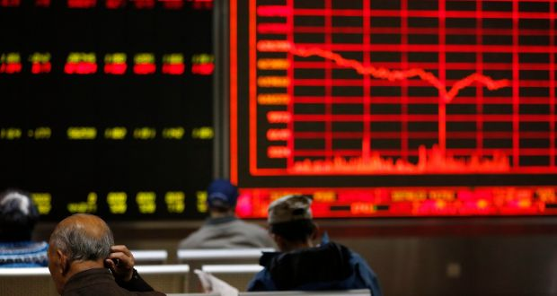 Chinese investors   in Beijing: Asian shares have rallied  in a remarkable snapback from the shock of   Donald Trump's presidential victory. Photograph:  How Hwee Young/EPA