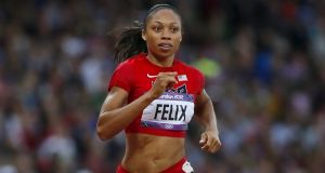 Allyson Felix of the US also follows the Alexander Technique: Photograph:  Reuters/Lucy Nicholson