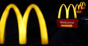 Golden arches: no-fry zones might make it easier to avoid fast food. Photograph: Luke Sharrett/Bloomberg