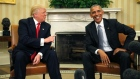Obama meets Trump at White House to begin transition of power