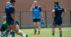 Conor O'Shea, head coach of Italian rugby team during a training session in Rome. Photograph: Silvia Lore/ NurPhoto via Getty Images