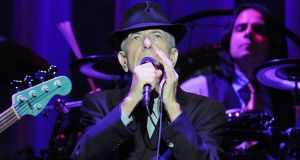 Leonard Cohen onstage at the Three Arena in 2009. Photograph: Dave Meehan