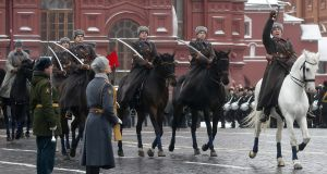 A military parade in Moscow. A russian dispute has made it to the Irish High Court.
