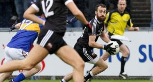Conor Laverty during Kilcoo's comfortable Ulster semi-final win over Maghery. Photograph: Inpho/Philip Magowan