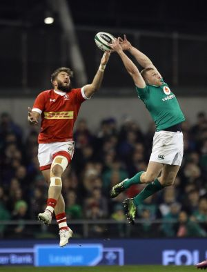 INTERNATIONAL SERIES: Keith Earls of Ireland and DTH van der Merwe of Canada during the Autumn International Series match at the Aviva Stadium, Dublin. Photograph: Lorraine O'Sullivan/Inpho