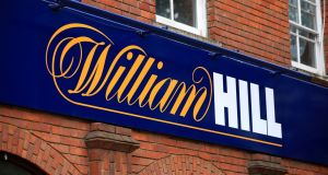 William Hill: The bookmaker expects full-year operating profit to be at the top end of its forecast of £260-£280 million (€302-€325 million). Photograph: Mike Egerton/PA Wire