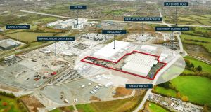 Kilcarbery Business Park, in Dublin 22: a vast distribution centre there goes up for sale today