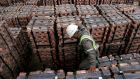 Copper shipment: Miners and banks   provided the main support to European shares amid continued   optimism over major construction plans in the US.  File photograph: Eliseo Fernandez/Reuters