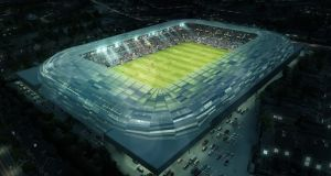 The proposed new design on Casement Park in Belfast.