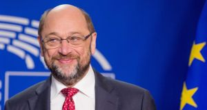 European Parliament president Martin Schulz: He   has asked that  information be gathered on how Britain's imminent departure will impact various EU legislative files passing through the parliament's committees. Photograph: Stephanie Lecocq