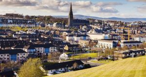 Derry  from its famous city walls: Two passionate and enlightening tours offer diverse insights into this  historically pivotal town. Photograph: Henryk Sadura/Getty