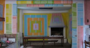 Brian O'Doherty's painted house (La Casa Dipinta) in Todi, Italy.  Photograph: Mary Ruth Walsh