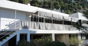 Eileen Gray's modernist  home, E-1027, at Roquebrune-Cap-Martin in the South of France, which features murals by Le Corbusier