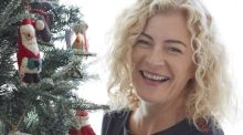 'I drape Christmas decorations on large plants, mirrors and even across the cooker'