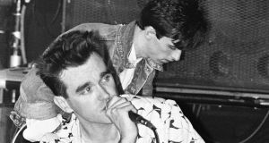 Morrissey and Johnny Marr of the Smiths: with seven of the group's parents of Irish extraction, the Smiths might even claim to be more Irish than U2. Photograph: Phil Dent/Redferns