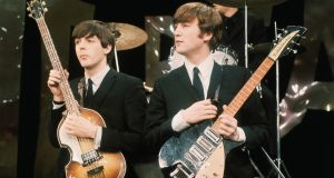 Paul McCartney and John Lennon of the Beatles: after the break-up of the band, Lennon and McCartney turned to Ireland for source material, with the Troubles being the catalyst