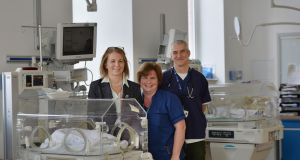 Unit manager Hilda Wall, nurse manager Sarah Rock and Dr Colm O'Donnell in the neonatal intensive care unit at the National Maternity Hospital. Photograph: Alan Betson/The Irish Times