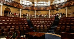 Just three TDs were present in the Dáil for a debate on legislation to introduce greater transparency and fairness to school admissions. File photograph: Aidan Crawley/The Irish Times