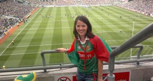 Majella Donoghue, from Tirrane, Belmullet at the All-Ireland football final between Dublin and Mayo last September at Croke Park. Photograph: Facebook