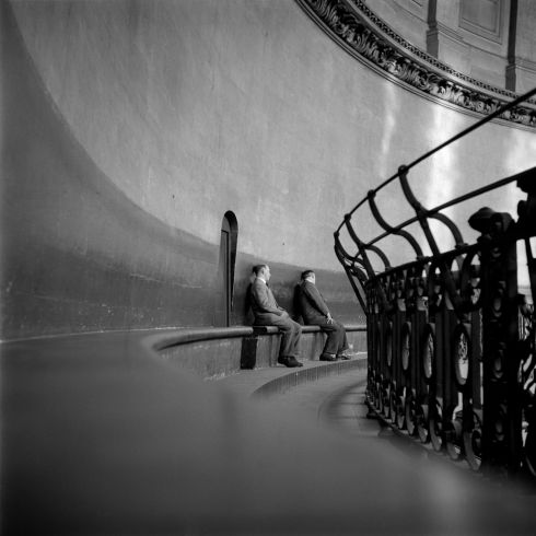 The whispering gallery of St Paul's Cathedral, London, 1962. Photograph: John Minihan