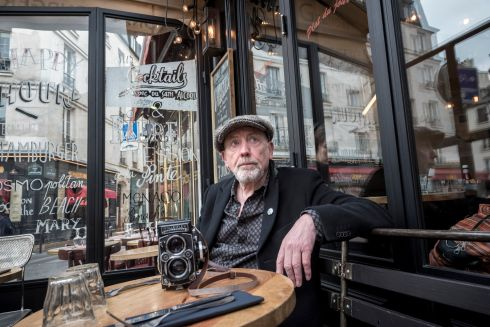 Photographer John Minihan in Paris in March this year, for an Irish Times magazine interview to mark his 70th birthday. Photograph: Andrew McLeish
