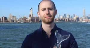 Circulate co-founder Marcus O'Sullivan with his Shorty award in New York