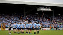 Dublin ahead of their game against in the Leinster Championship quarter-final last summer. Photograph: Ryan Byrne/Inpho