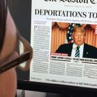 Boston Globe hoax headline: Irish immigrants worry Trump may reverse legislation that  protects children  from deportation. Photograph:  Karen Bleier/AFP/Getty
