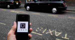 "Disruption: A court in London recently rejected the claim that Uber in London was ""a mosaic of 30,000 small businesses"". Photograph: Toby Melville/Reuters"