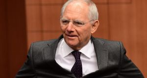 German finance minister Wolfgang Schauble said the Commission had 'no mandate' in such matters. Photograph: AFP