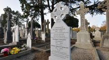 The gravestone of Daniel Carroll, who was shot leaving Croke Park on Bloody Sunday. Photograph: Alan Betson.