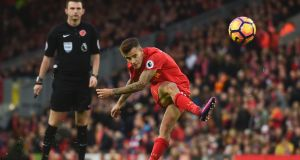 Liverpool's Brazilian midfielder Philippe Coutinho is an injury doubt to face Southampton this weekend. Photograph: Getty Images