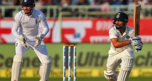Virat Kohli's unbeaten 50 put India in a dominant position in Vizag. Photograph: Reuters/Danish Siddiqui