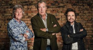 James May, Jeremy Clarkson and Richard Hammond: The first episode of 'The Grand Tour'  was launched on Amazon Prime Video on Friday, November 18th. Photograph: Amazon Prime Video/PA Wire