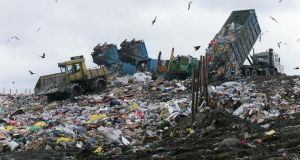 About 350,000 tonnes of biodegradable municipal waste have been loaded so far this year into the seven landfill sites that have reached their annual licensed capacity. Photograph: Alan Betson