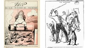 In the  turbulent Irish nationalist press of the 1870s, British imperialism was routinely lampooned
