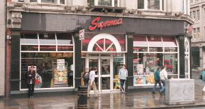 Supermac's on O'Connell Street, Dublin: After-tax profits at the group doubled to €14 million last year.