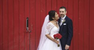 Roger Holmes and Yesenia Zea Moscosso were married in Glenswilly Chapel, Co Donegal