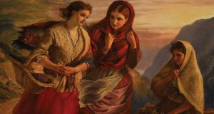 Connemara Girls, by the Victorian artist Sir Thomas Alfred Jones, which is priced at €26,500.