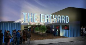 A computer generated impression of Eatyard, a new street food market in Dublin 2, opening on Thursday
