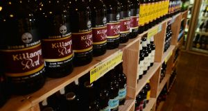 Craft Beer on the shelves of Martin's off licence in Fairview, Dublin. Photograph: Alan Betson/The Irish Times