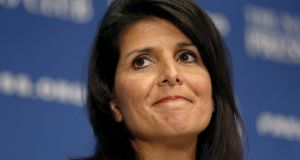 Nikki Haley: South Carolina's governor is seen as a rising star of the Republican party.  Photograph: Kevin Lamarque/Reuters