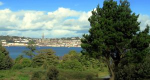 The town of Cobh, seen from Spike Island, Co Cork